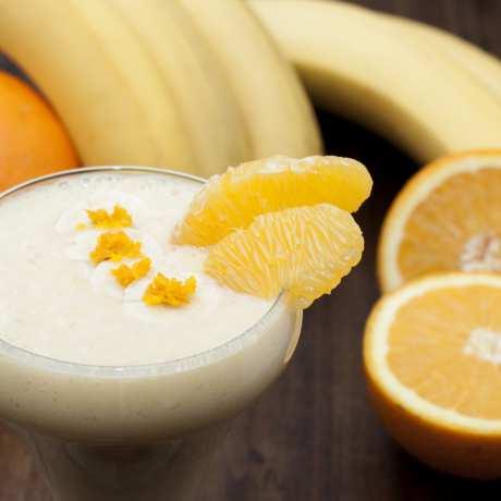 Krémové pomarančové smoothie