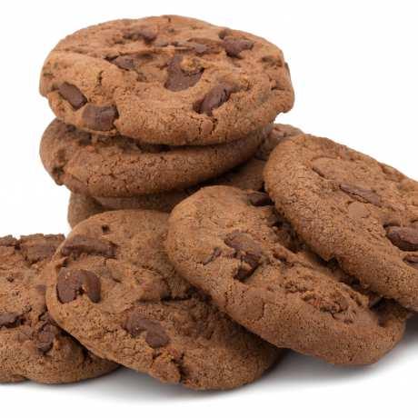 Tmavé čokoládové sušienky
