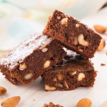 Brownies s orechami