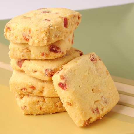 Linecké sušienky s brusnicami