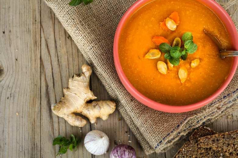 Tekvicová polievka so zázvorom