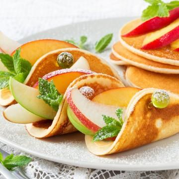 Jablkovo-proteínové lievance